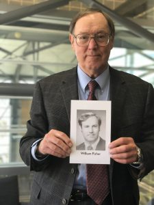 William E. Fisher '78 holds his class exit photo