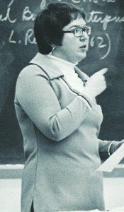 Professor June Weisberger lectures